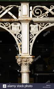close up of cast iron decorations on victorian bungalow homes in