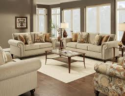 Transitional Style Living Room Furniture Fusion Furniture 3110 Transitional Sofa With Nailhead Trim