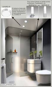 161 best o wietlenie images on pinterest ceiling lights master fancy modern small bathroom design idea with floating vanity sink and flush toilet and frameless wall mirror also green indoor plants and glass shower