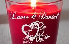 cadeau de mariage personnalis bougie parfumée personnalisée gravée mariage valentin cadeau