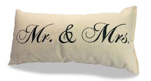 mr and mrs pillow mr mrs pillow 100 canvas 8 x 15