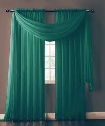 warm home designs pair of blue teal sheer curtains or extra long