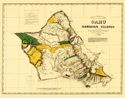 Map Of Hawaii And United States by Old Map Oahu Hawaii Covington 1881