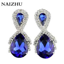 royal blue earrings jlwomen earring 2016 new fashion big water drop earrings for women