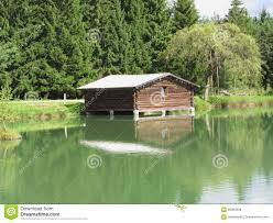 Small Lake House by Forest Water House Stock Photos Image 32628233