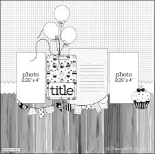 cherry bits grab this scrapbook layout sketch