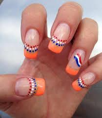 55 most beautiful orange nail art design ideas