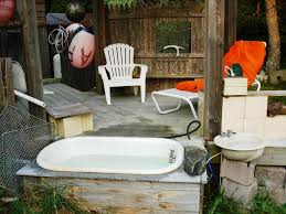 Outdoor Bathtubs Ideas Outdoor Soaking Tub Outdoor Kitchen Also Requires Dedicated Space