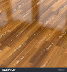Parquet Flooring Laminate 3d Illustration Dark Wood Parquet Floor Stock Illustration