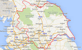 England On Map Yorkshire Grant Makers Contact Page