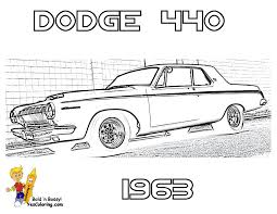 1963 dodge 440 car colouring pics at yescoloring brawny muscle