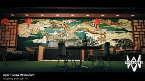 artstation watch dogs 2 tiger panda chinese restaurant