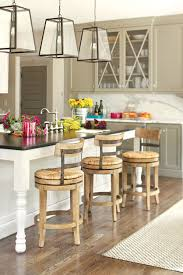 furniture wicker countertop stools with back and black wood legs