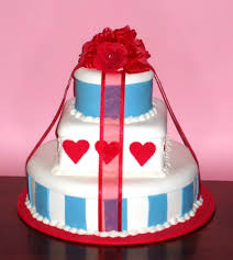 wedding cakes pictures blue and red wedding cakes