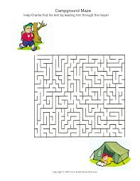 printable thanksgiving worksheets campground maze summer camp activities pinterest summer camp