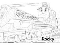 rocky crane coloring pages hours fun thomas train