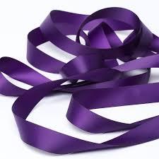 purple satin ribbon aubergine purple satin ribbon