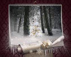 fairy christmas night magic wall calendar falling snow effect