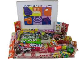 Man Gift Basket Review 40th Birthday Gift Basket Box Of Retro Candy Man Gift Basket