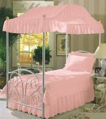 Pink Canopy Bed Pink Twin Size Canopy Bed Top Fabric Best Buy Drape Fabric For