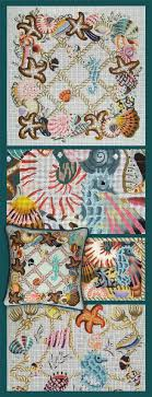 8 best sea shell collection painted needlepoint canvases