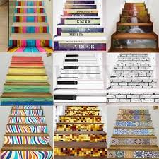 3d 6pc stair stickers risers mural decoration photo vinyl decal