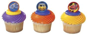 hot wheels cake toppers cupcake rings toppers picks hot wheels hot wheels cupcake rings