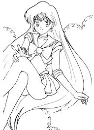 tsuki matsuri sailormoon coloring book archive