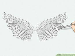 3 ways to draw wings wikihow