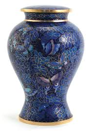 butterfly urn etienne butterfly cloisonné urn large urns of distinction