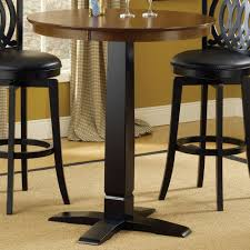 Black Bistro Table Dynamic Design Wood Bistro Pub Table In Brown Cherry Black