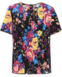 diane von furstenberg dayle printed silk blouse lyst