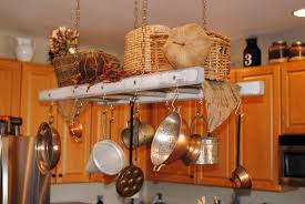 white with gray distressing rustic ladder pot rack farmhouse