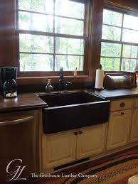 Rustic Kitchen Countertops by Sapele Mahogany Wood Countertops With An Undermount Sink In Plover