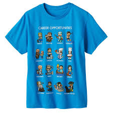 careers blue cartoon sprites mining minecraft mine craft t shirt