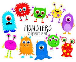 halloween cute clipart monster clipart set cute monsters clip art designs fun