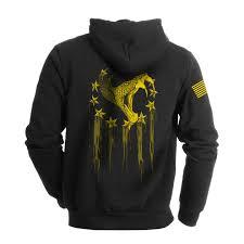 Yellow Flag With Snake Tread Lightly Sweatshirt Black U0026 Yellow U2013 Alpha Defense Co