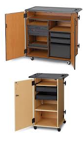 multimedia cart with locking cabinet mobile media storage cabinets wenger corporation