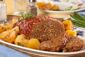slow cooked meat loaf and potatoes mrfood com