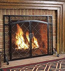 Fireplace Metal Screen by Amazon Com Plow U0026 Hearth Celtic Knot Large Fireplace Screen With