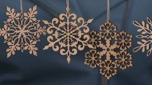 ed on air set of 24 wood snowflake ornaments by degeneres