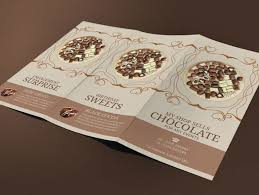 swiss chocolate brochure modern design on behance
