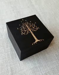 white tree of gondor decorative box lord of the rings home decor