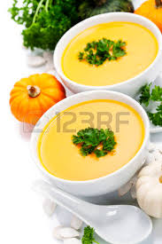 pumpkin soup for or thanksgiving day concept