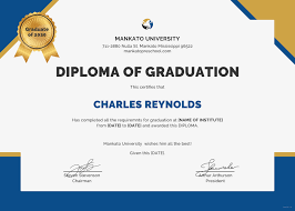 graduation diploma free diploma of graduation certificate template in psd ms word