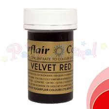 Sugarflair Spectral Paste Velvet Red Food Colour Partyanimalonline
