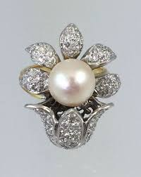 best pearl rings images Vintage ruby and pearl ring 54 best vintage cocktail rings images jpg