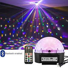 supertech led magic ball light instructions intsun disco ball strobe light party lights 6 color sound activated
