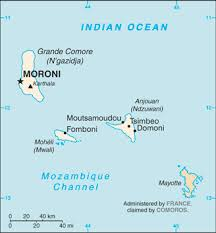 map comoros the world factbook central intelligence agency