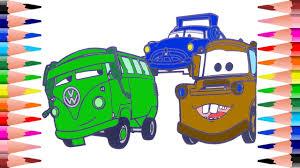 painting disney pixar cars coloring book kids coloring mater